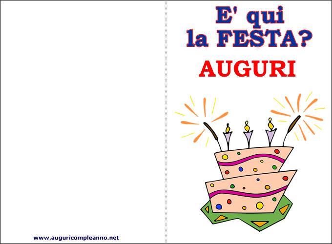 Biglietti auguri Compleanno